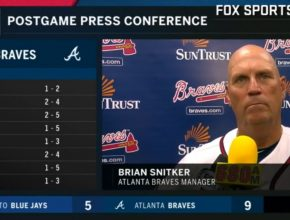 Braves Manager Brian Snitker Press Conference July 11 2018! At SunTrust Park - Final Score: Braves 9 Brewers 5! Chop On Braves Country!