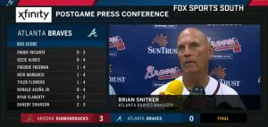Braves Manager Brian Snitker Press Conference July 14 2018! Braves Manager Brian Snitker Press Conference After The Braves Loss Against The Diamondbacks.