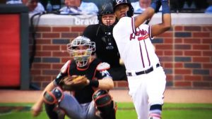 Ronald Acuna Jr Wins NL Player Of The Week August 20, 2018! Acuna hit .464 with 2 doubles, 4 home runs, 9 RBIs and 3 stolen bases last week!