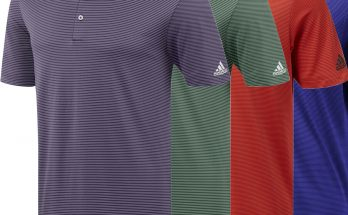 Adidas Essential 2 Color Pencil Stripe Polo Shirt