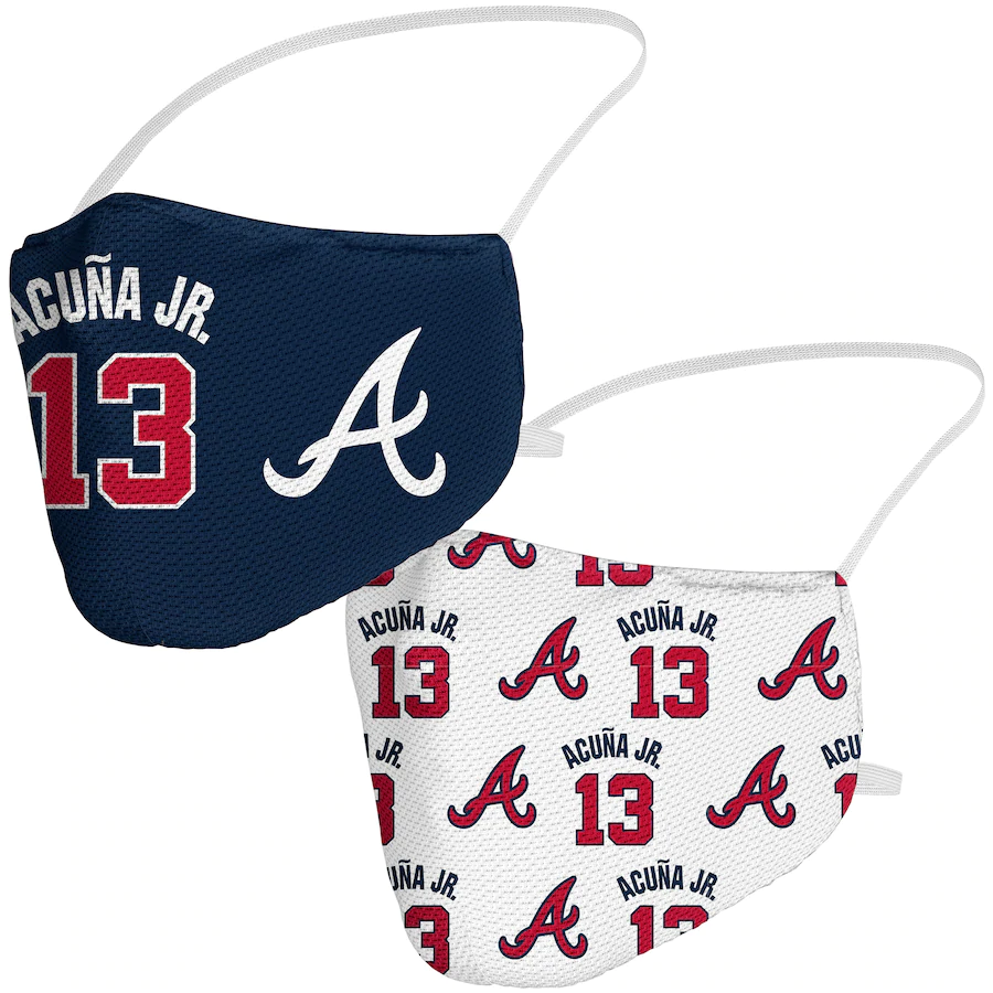 Ronald Acuña Jr. Atlanta Braves Fanatics Branded Adult Name & Number Face Covering 2-Pack