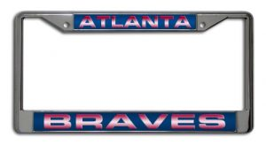 Atlanta Brave Rico Industries MLB Laser-Cut Chrome License Plate Frame