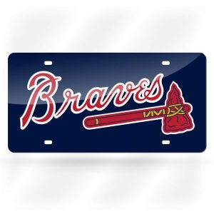 Rico Industries Atlanta Braves Laser Cut Auto Tag