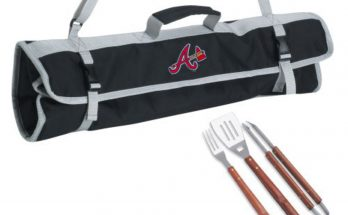 Atlanta Braves 3-Piece BBQ Black Tote