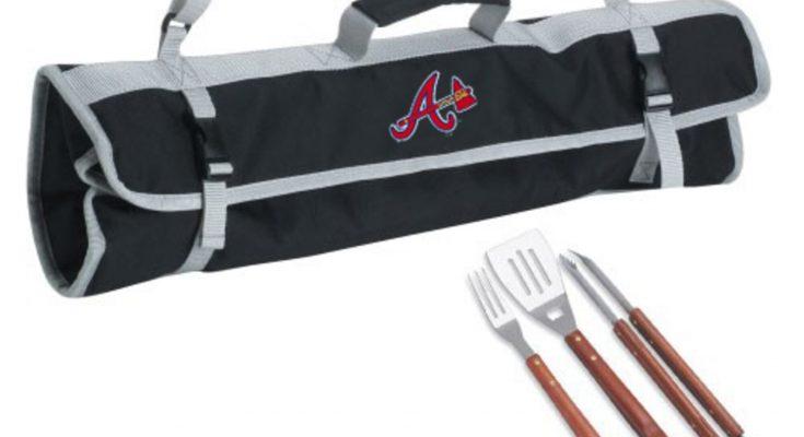 Atlanta Braves 3-Piece BBQ Black Tote