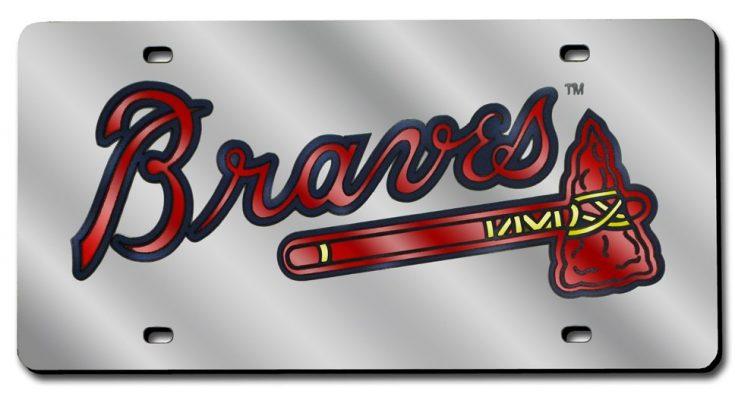 Atlanta Braves MLB Laser-Cut Auto Silver Tag