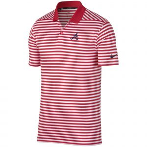 Atlanta Braves Nike Golf Stripe Victory Performance Red Polo