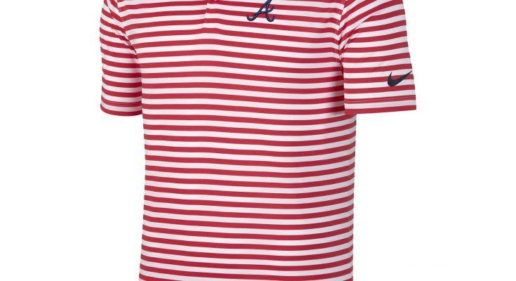 Atlanta Braves Nike Golf Stripe Victory Performance Red Polo