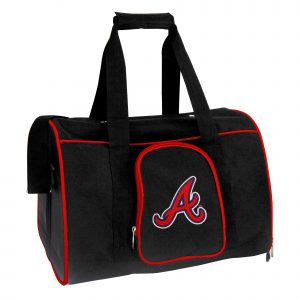 Atlanta Braves Small 16 Inch Black Pet Carrier
