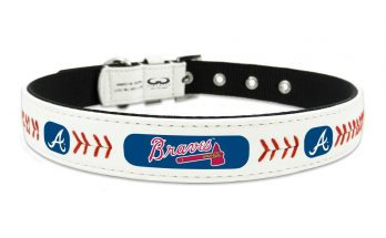 Atlanta Braves Small Leather Lace Dog Collar MLB Pet Cat Lead CDG