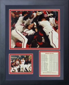 Legends Never Die 1995 Atlanta Braves Champions Framed Photo Collage 11 by 14-Inch