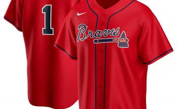 Ozzie Albies Atlanta Braves Nike Red Jersey