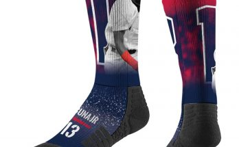 Ronald Acuna Jr Atlanta Braves Full Sublimated Player Navy Crew Socks